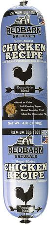 Natural Roll Dry Dog Food, Chicken and Liver Formula, Redbarn Pet Products Inc