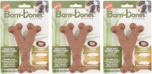 NEW Ethical Pet 3 Pack of Bam-Bone Wish Bone Dog Toys, 5.25 Inches, Bacon Flavor
