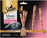 NEW 6 Bags of Sheba Meaty Tender Sticks Salmon Flavor Cat Treats - 0.7 Oz (5 Treats in ea Bag)