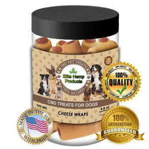 NEW Hemp Supplements for Dogs Anxiety Calming Bites with Dried Cheese Products & Hemp