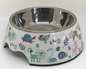 NEW Animal Print Medium Size Dog Bowl