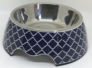 NEW Modern Navy Medium Size Dog Bowl