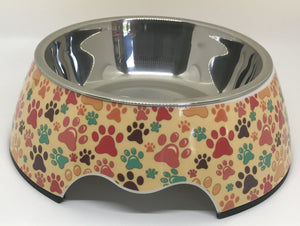 NEW Put Your Paws Up In The Air Medium Size Dog Bowl
