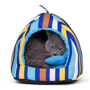 Soft Bed For Cat Waterproof Pet Bed Stripe