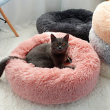 Soft pet round bed for cat and dog