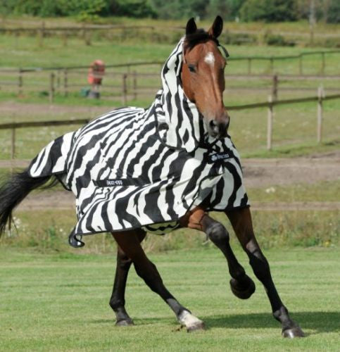 "Bucas Buzz Off Zebra Full Neck Fly Rug 6'9"" Without Fly Mask"
