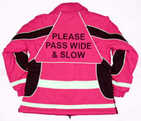 Equisafety Aspey Winter Jacket Pink & Yellow