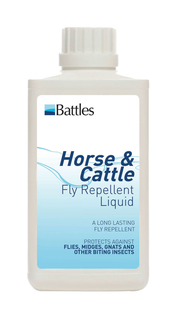 Battles Horse and Cattle Fly Repellent Liquid 500ml or 1 litre