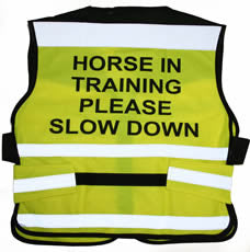 Equisafety Air Waistcoat Horse in Training Please Slow Down