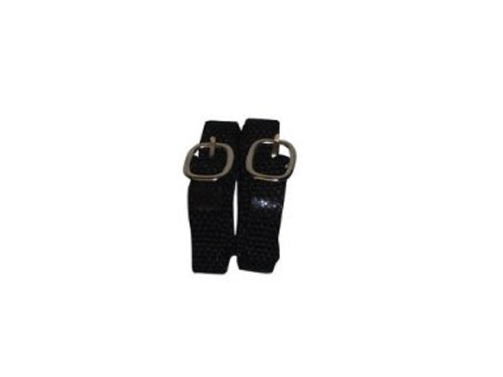 Bitz Black Nylon Spur Straps Pair