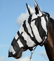 Bucas Buzz Off Full Face Fly Mask Zebra print
