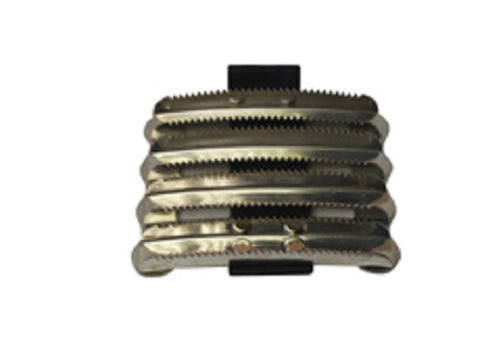 Bitz Curry Comb Metal Military PVC Strap