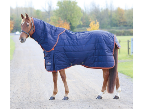 SHIRES HIGHLANDER 100g STABLE RUG & NECK SET