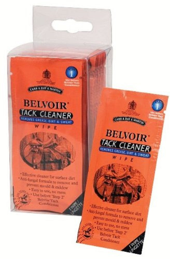 Carr Day & Martin Belvoir Tack Cleaner Step 1 Wipes 15 Pack