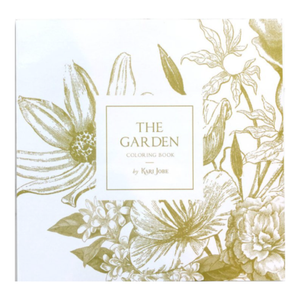 COLORING BOOK AND PENCILS - THE GARDEN