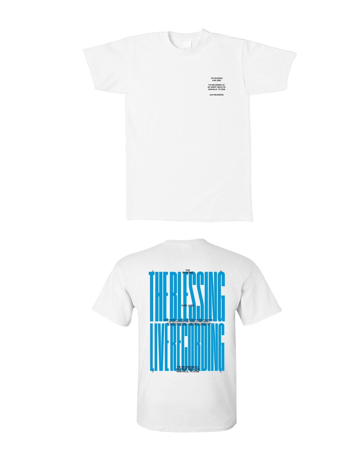 THE BLESSING LIVESTREAM TEE - BLUE