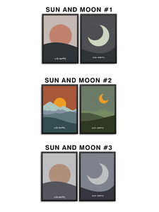 SUN AND MOON - 11x14 PRINT SET