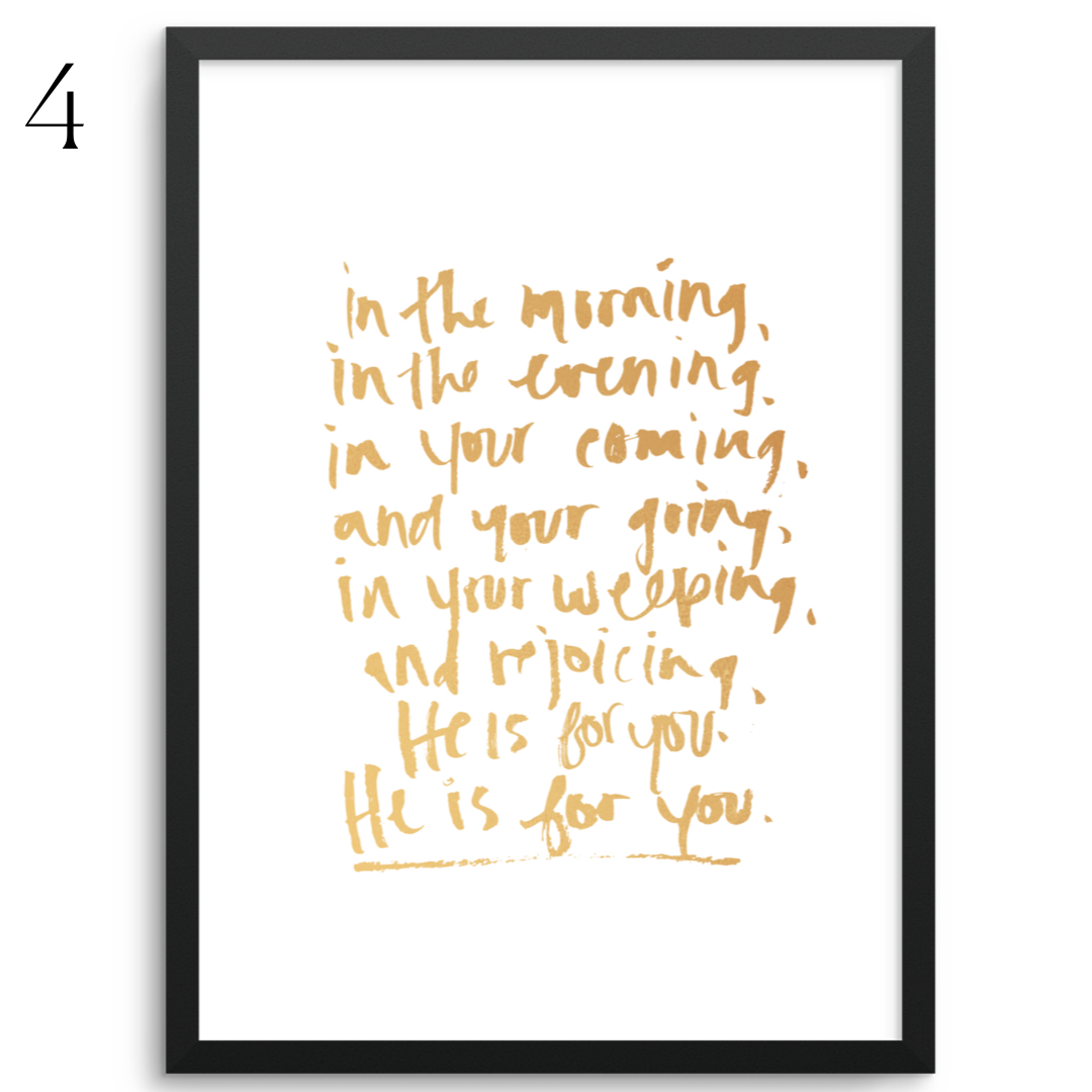 GOLDEN BLESSING LYRICS - 8x10 PRINTS