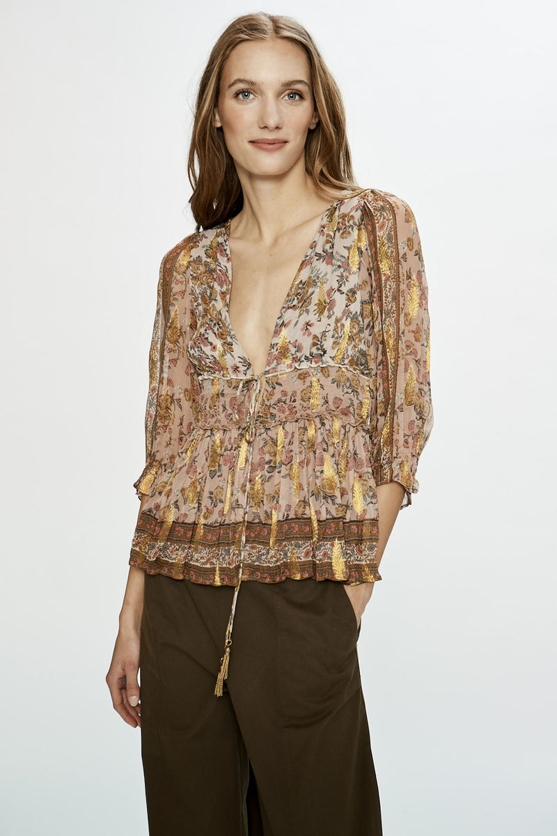 Euphoria Placement Smocked Top