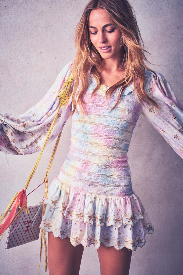 Love Shack Fancy, Love Shack Fancy Celia Dress, Love Shack Fancy Spring 2020, Love Shack Fancy Dress, Tie dye dress, Spring Dress