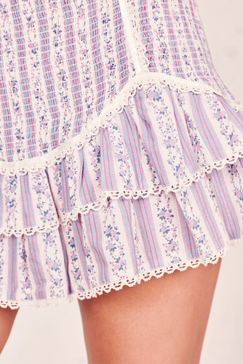 Love Shack Fancy, Love Shack Fancy Raina Skirt, Resort 2019, Bow, Ruffle Skirt