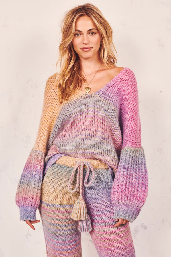 Love Shack Fancy, Love Shack Fancy Rio Pullover, Rainbow, Rainbow Sweater, Sweater