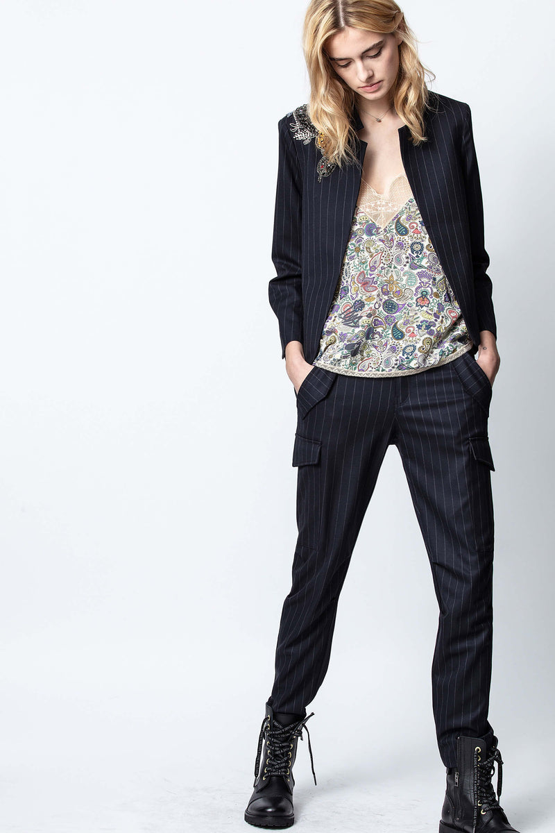 Zadig & Voltaire, Zadig & Voltaire Palmy Pinstripes Pant, Spring 2020, Spring collection, Pinstripe Pants, Cargo Pants
