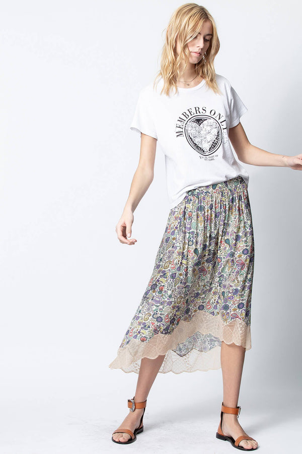Zadig & Voltaire, Zadig Voltaire Aly's Members Only T-Shirt, Spring 2020, Spring collection, White T-Shirt, Graphic Tee