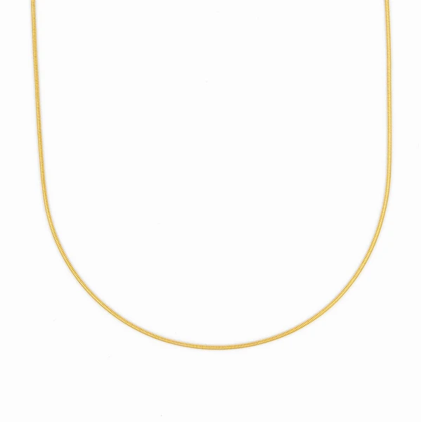 G2G Smooth Snake Chain, G2G Necklace, Gold Necklace, Italian Chain