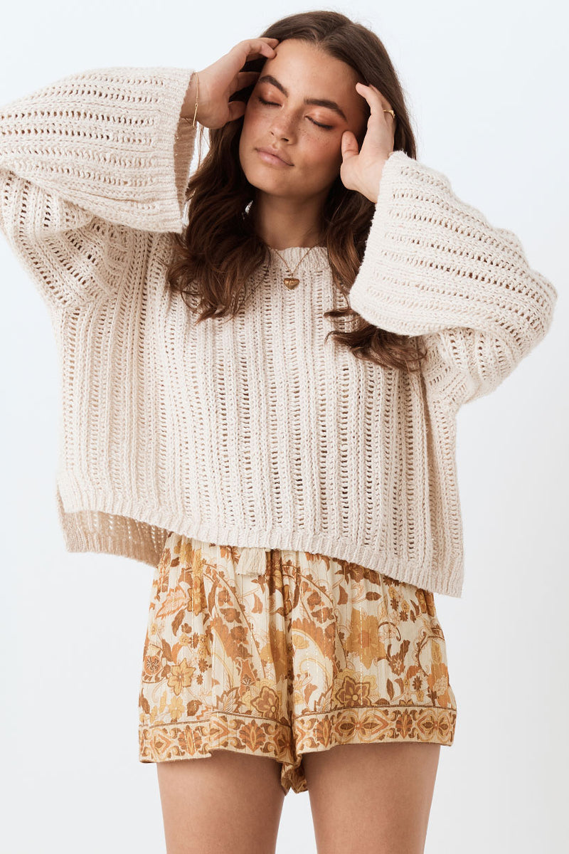 Spell and the Gypsy, Spell and the Gypsy Heather Knit Jumper, Spell and the Gypsy Jumper, Knit Jumper, Sweater