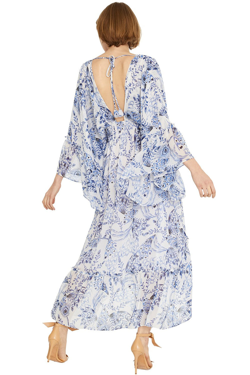 Misa Los Angeles, Misa Los Angeles Shadi Dress, Peacock Print, Pre-spring 2020, Resort, Maxi Dress