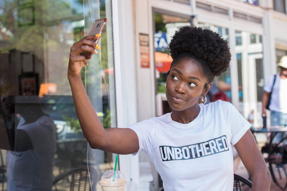 UNBOTHERED WOMENS TEE (FINAL SALE)