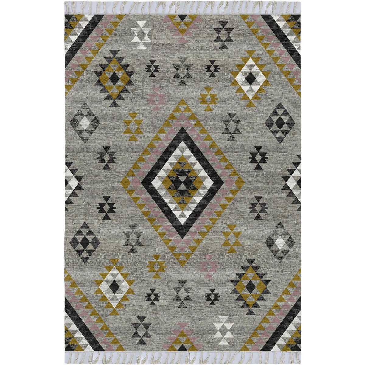 Tangier Rug 08 Grey/Yellow 1