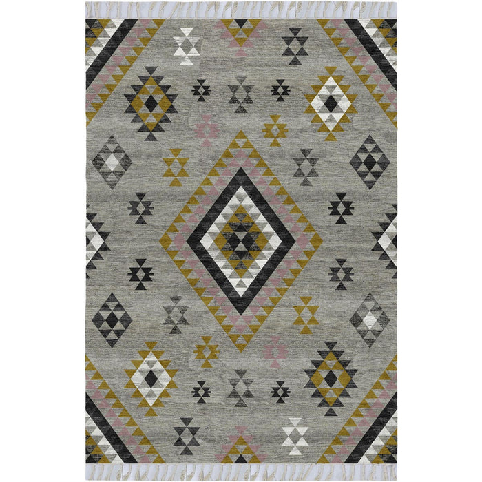 Tangier Rug 08 Grey/Yellow