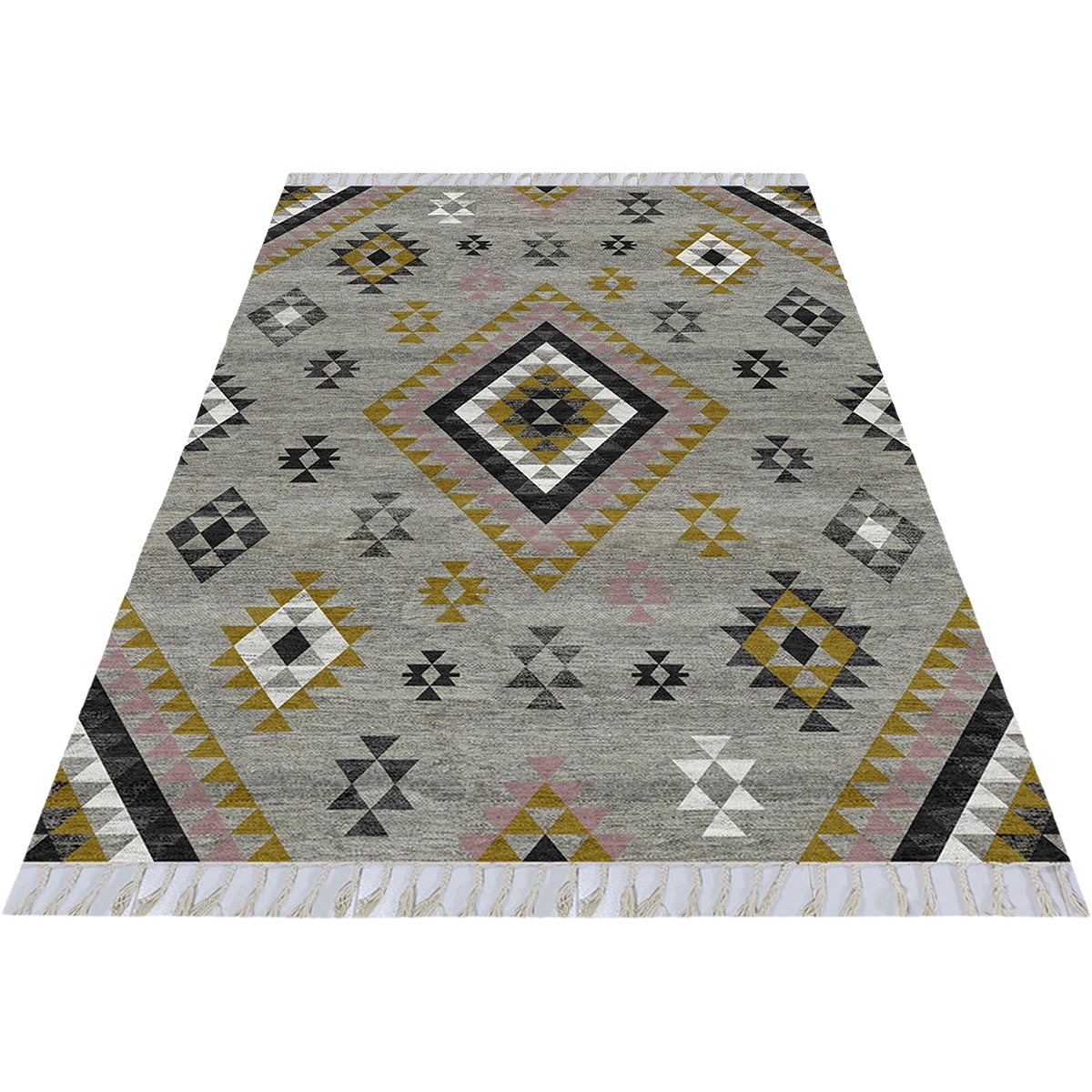 Tangier Rug 08 Grey/Yellow 2