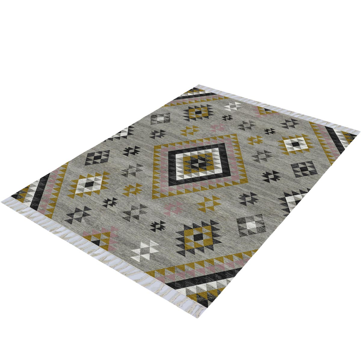 Tangier Rug 08 Grey/Yellow 3