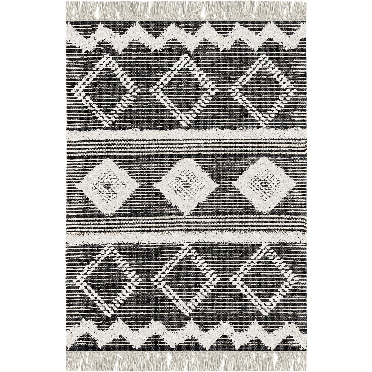 Tangier Rug 12 Black/White 1