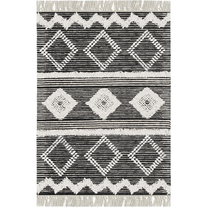 Tangier Rug 12 Black/White