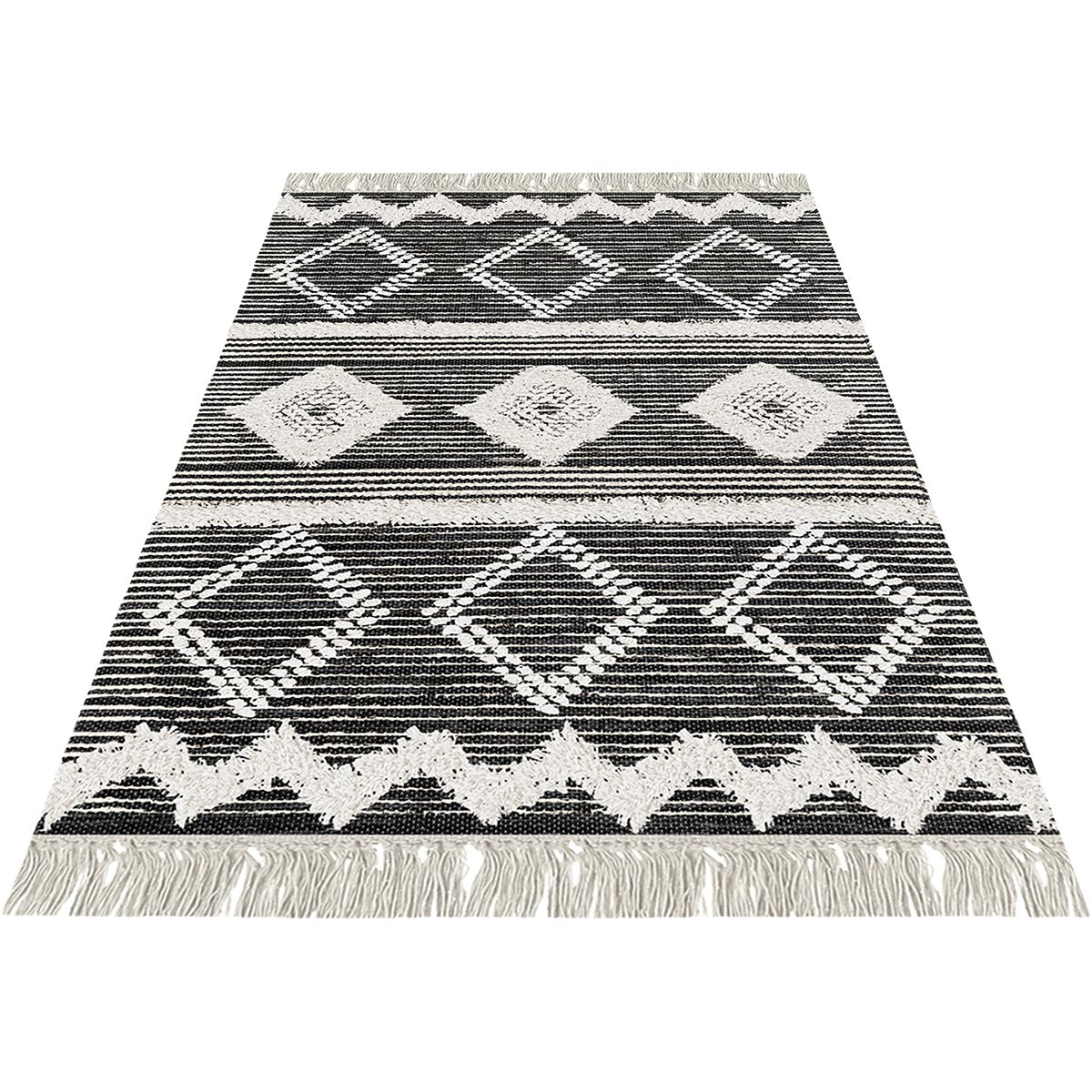 Tangier Rug 12 Black/White 2