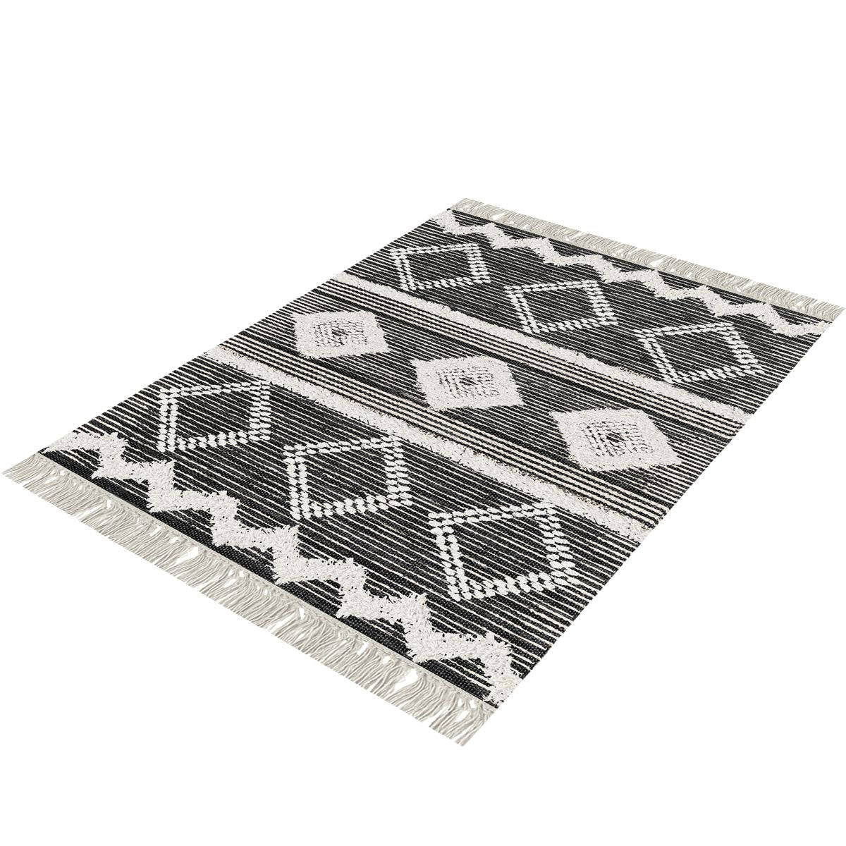 Tangier Rug 12 Black/White 3