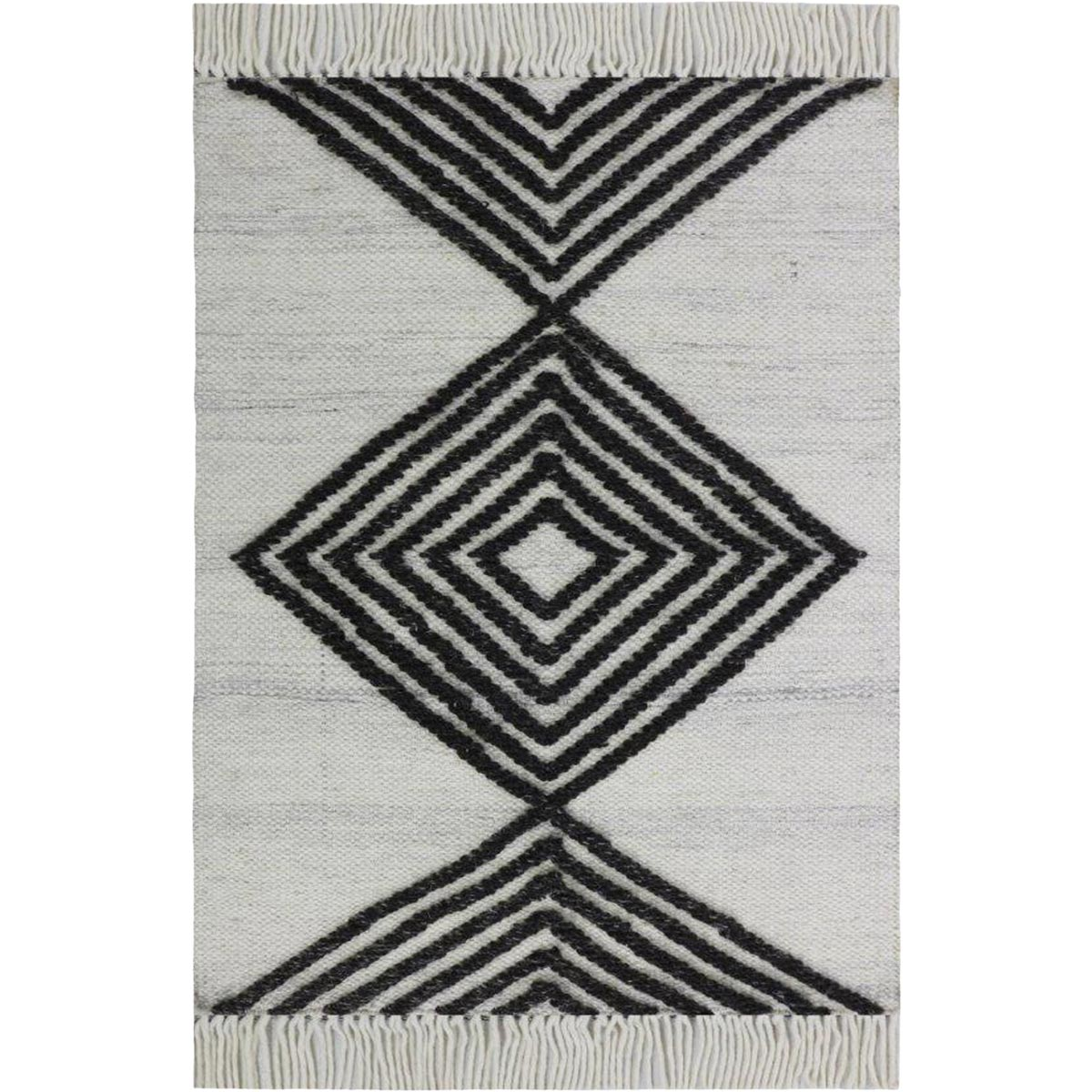 Tangier Rug 16 White/Dark Grey 1