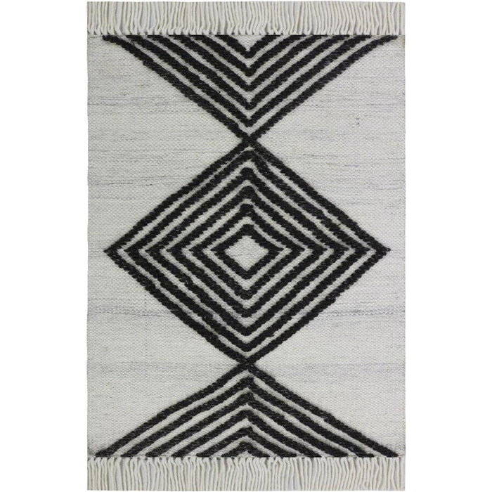 Tangier Rug 16 White/Dark Grey