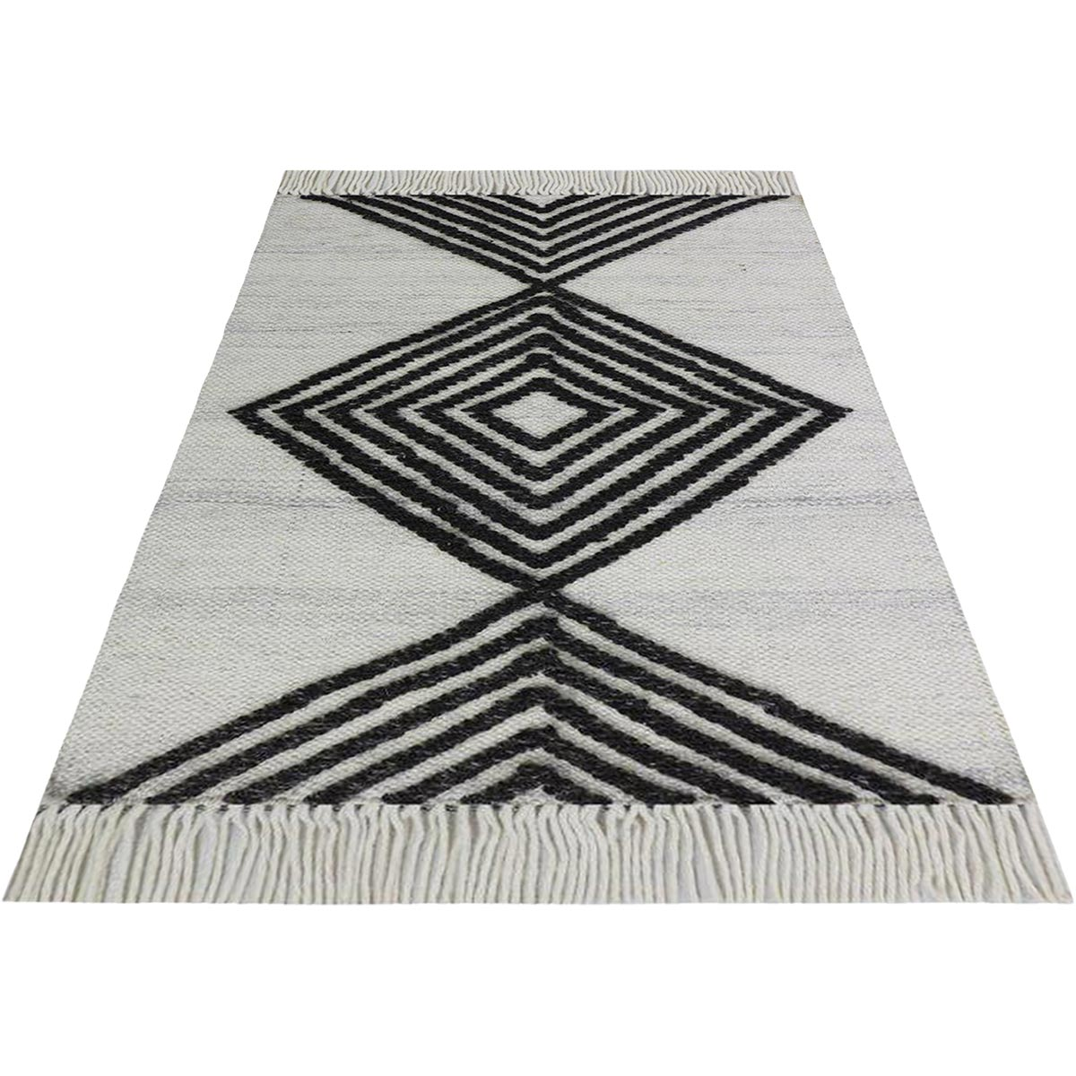 Tangier Rug 16 White/Dark Grey 2