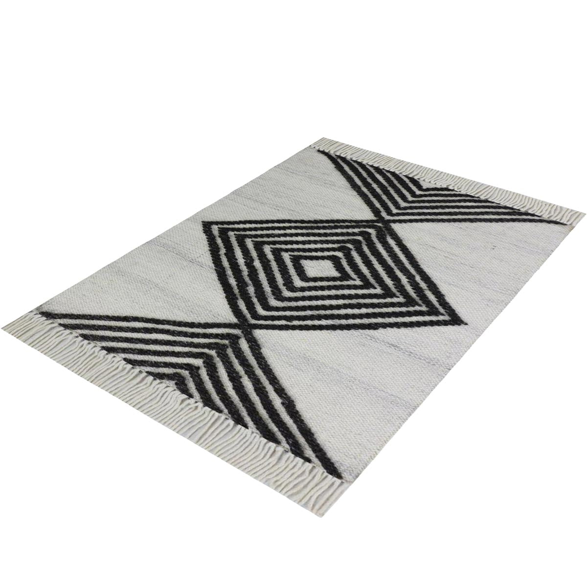 Tangier Rug 16 White/Dark Grey 3