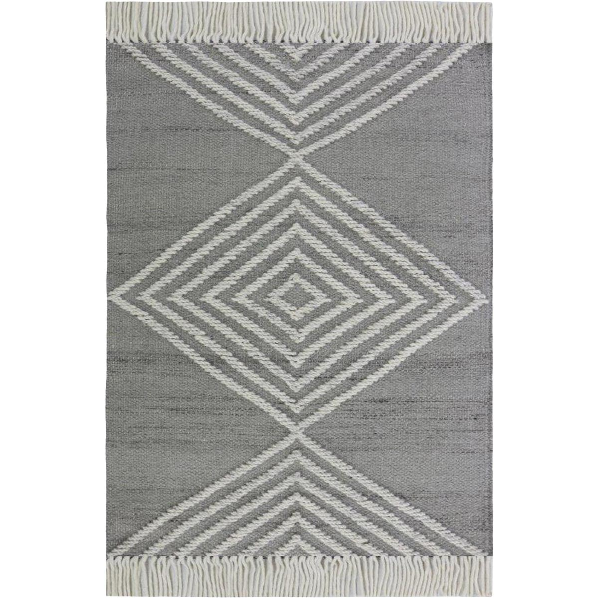 Tangier Rug 16 Grey/White 1