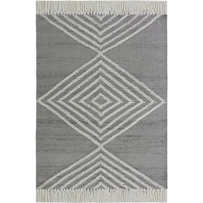 Tangier Rug 16 Grey/White