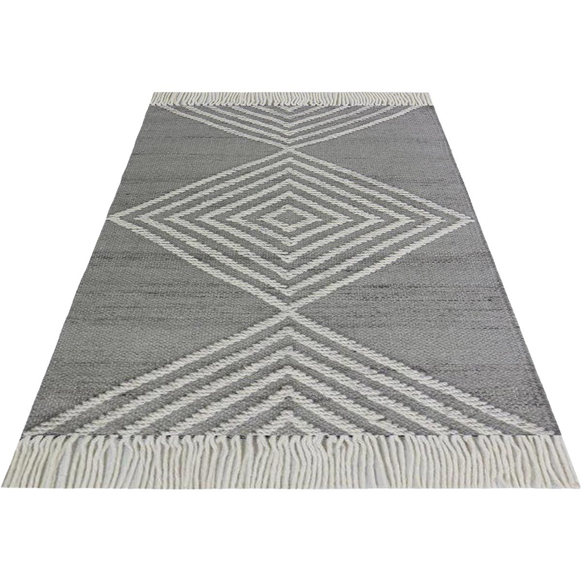 Tangier Rug 16 Grey/White 2
