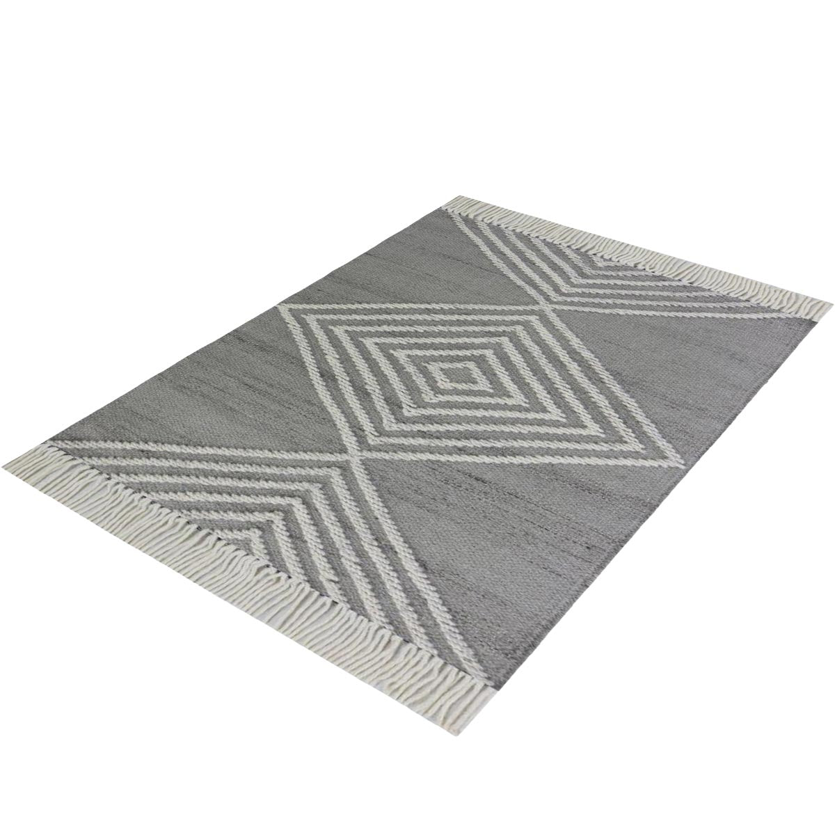 Tangier Rug 16 Grey/White 3