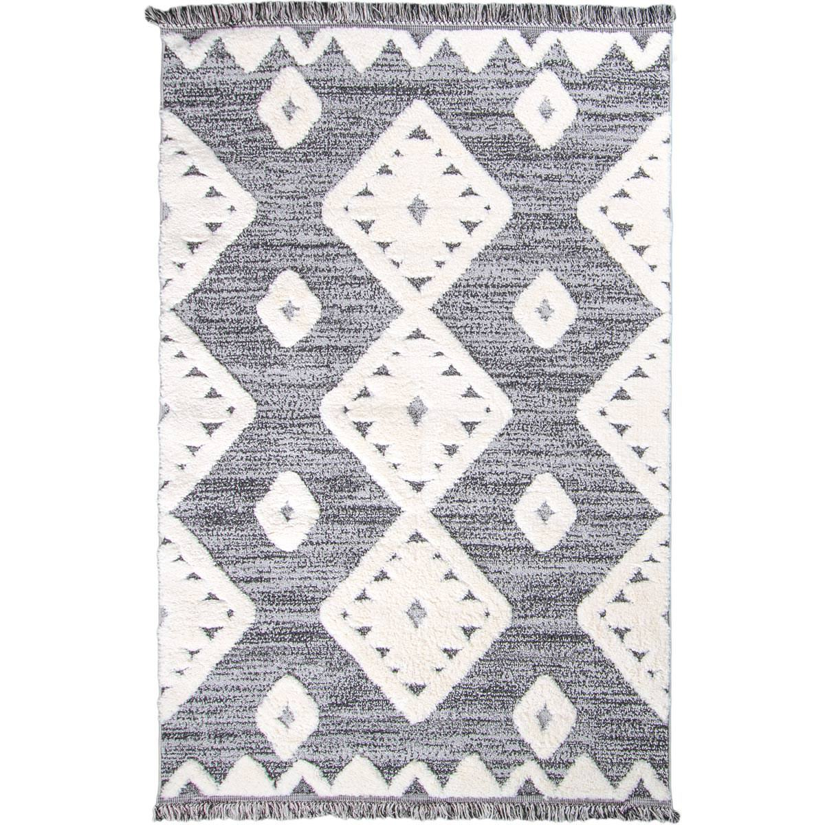 Atlas Rug 07 Grey - Fringes 1