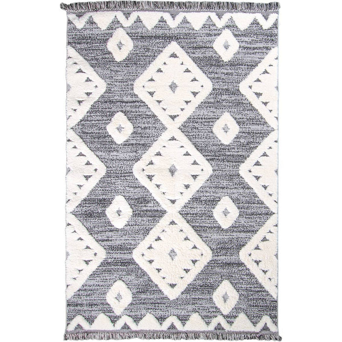 Atlas Rug 07 Grey - Fringes
